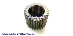 4) SM 102 Pincer Bar Gear Keyway Type Short Type 43mm Long